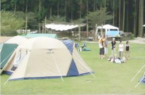 大自然の中のキャンプ場